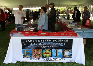 ESSIC storefront at entry to Earth Sciences Tent