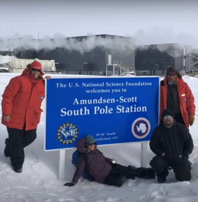 Four scientists post at the US Amundsen-Scott South Pole Station