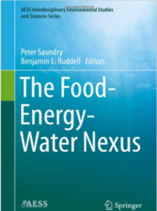 """A screenshot of the book cover of """"The Food-Energy-Water Nexus"""""""