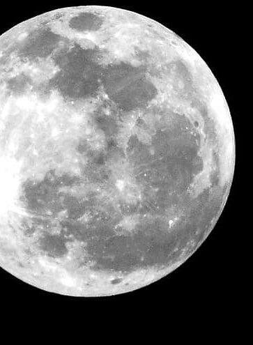 A closeup of the Moon