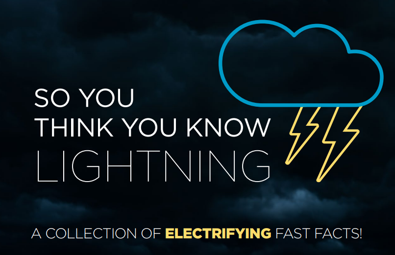 """A cover image of Zhang's booklet, """"So you think you know lightning"""""""