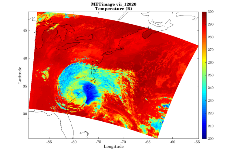 The simulated Hurricane Florence on the METimage viii_12020