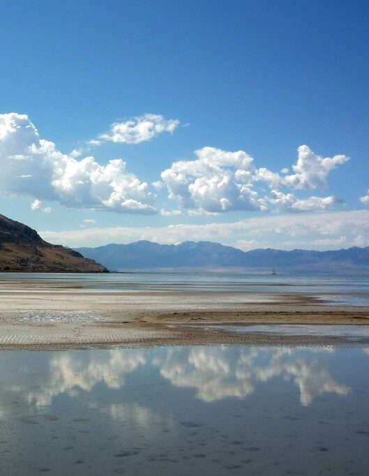 The Great Salt Lake in Utah