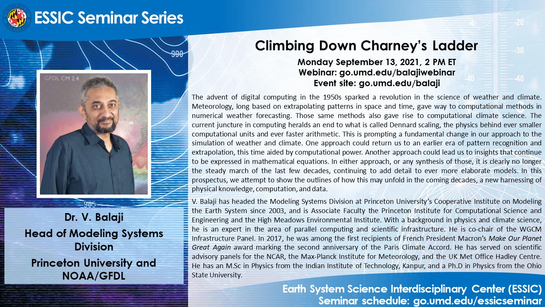 The seminar flyer for Dr. Balaji's upcoming seminar