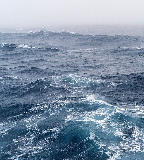 A visualization of the southern ocean