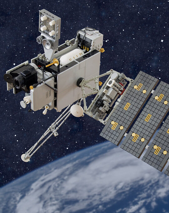 The GOES-16 satellite far above Earth