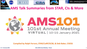 The intro slide to the AMS 101 presentation