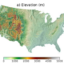 Figure 1. Maps of (a) elevation across the CONUS, (b) spatial distributions of GAGES-II sites matching with selecting criteria, (c) the Köppen's climate type and (d) MRVBF class of final selected 1,548 river basins.