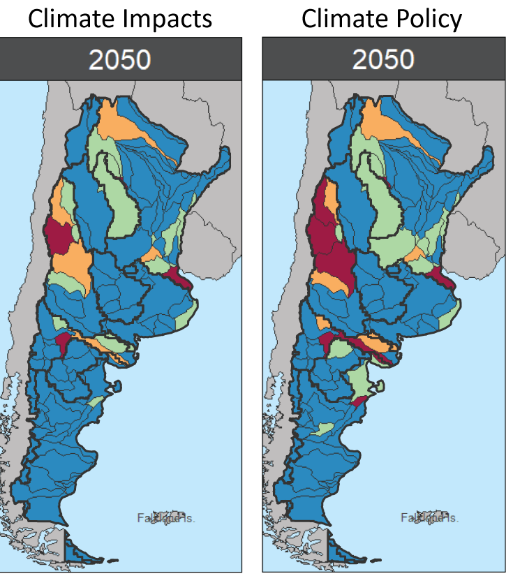 The projection of water scarcity in Argentina moving forward