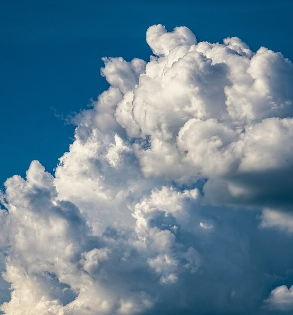 A close-up of a billowing white cloud