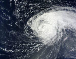 NASA's Terra satellite captured this true-color image of Hurricane Nadine in the Atlantic Ocean on Sept. 16 at 1345 UTC (9:45 a.m. EDT) while NASA's Global Hawk was flying around the storm.